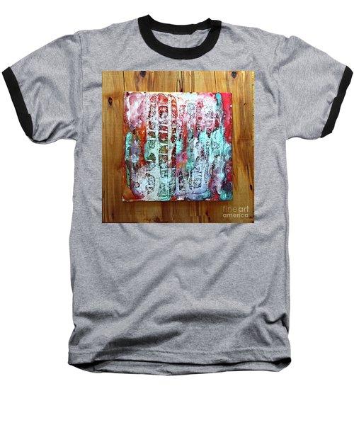 Ausangate Waterfalls Baseball T-Shirt by Alene Sirott-Cope