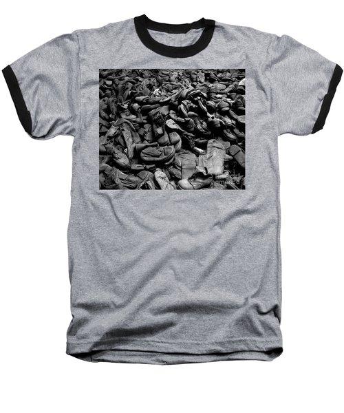 Auschwitz-birkenau Shoes Baseball T-Shirt by RicardMN Photography