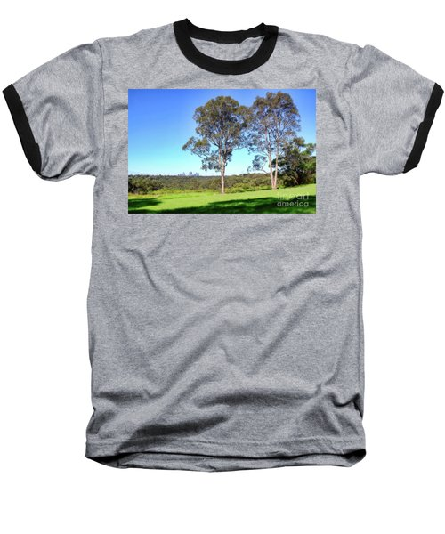 Baseball T-Shirt featuring the photograph Aussie Gum Tree Landscape By Kaye Menner by Kaye Menner