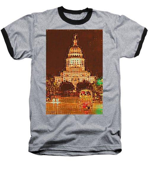 Austin Capitol At Night Baseball T-Shirt