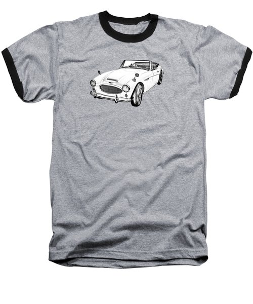 Austin Healey 300 Sports Car Drawing Baseball T-Shirt