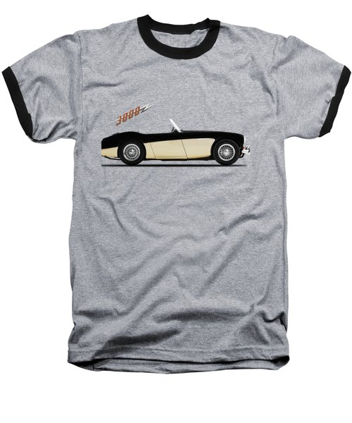 Austin Healey 3000 Baseball T-Shirt by Mark Rogan