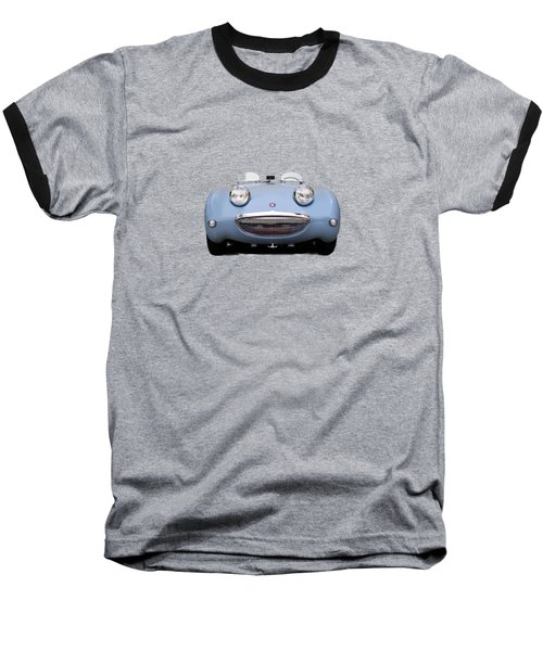 Austin Healey Sprite Baseball T-Shirt by Mark Rogan