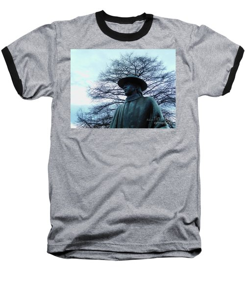 Austin Hike And Bike Trail - Iconic Austin Statue Stevie Ray Vaughn - Two Baseball T-Shirt by Felipe Adan Lerma