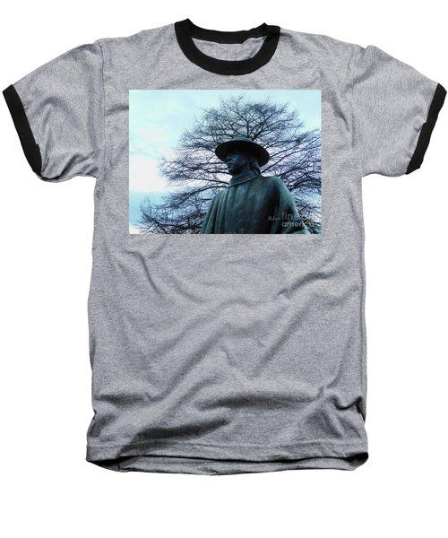 Austin Hike And Bike Trail - Iconic Austin Statue Stevie Ray Vaughn - Two Baseball T-Shirt