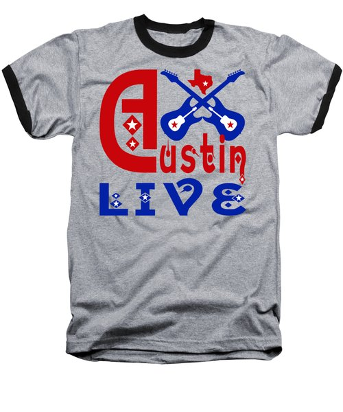 Austin Live Baseball T-Shirt by David G Paul