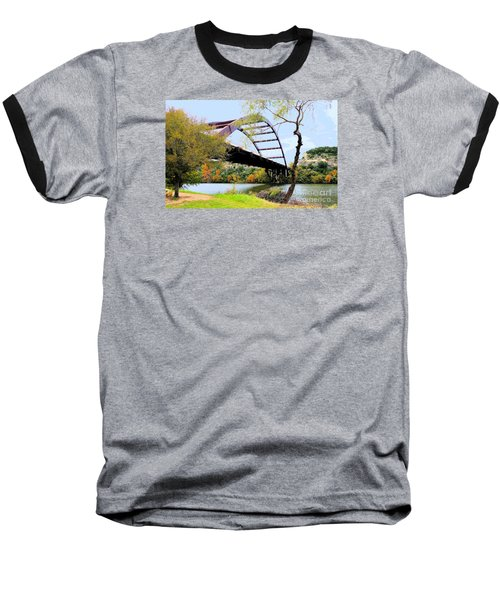Austin Pennybacker Bridge In Autumn Baseball T-Shirt