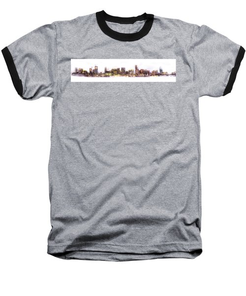 Austin Texas Skyline With White Blackground  Baseball T-Shirt