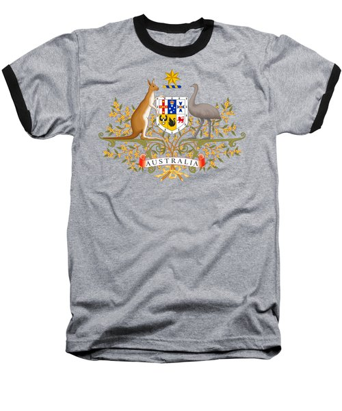 Baseball T-Shirt featuring the drawing Australia Coat Of Arms by Movie Poster Prints