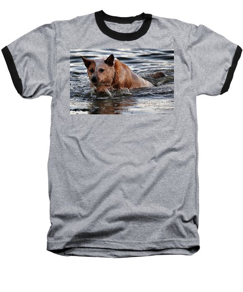 Out For A Swim Baseball T-Shirt