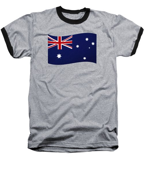 Baseball T-Shirt featuring the photograph Australian Flag Waving Png By Kaye Menner by Kaye Menner