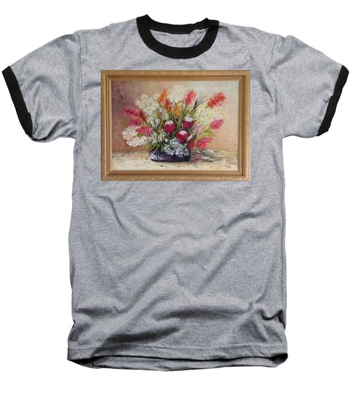 Baseball T-Shirt featuring the painting Australian Natives by Renate Voigt