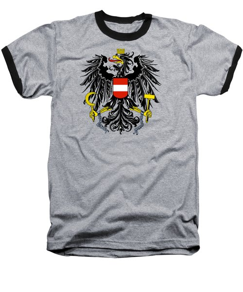 Baseball T-Shirt featuring the drawing Austria Coat Of Arms by Movie Poster Prints