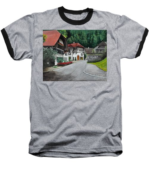 Austrian Village Baseball T-Shirt