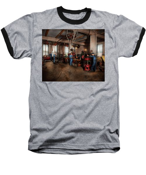 Baseball T-Shirt featuring the photograph Autobody - The Bodyshop 1916 by Mike Savad