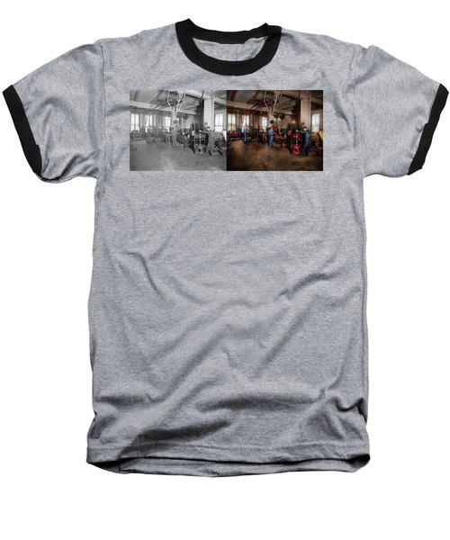Baseball T-Shirt featuring the photograph Autobody - The Bodyshop 1916 - Side By Side by Mike Savad