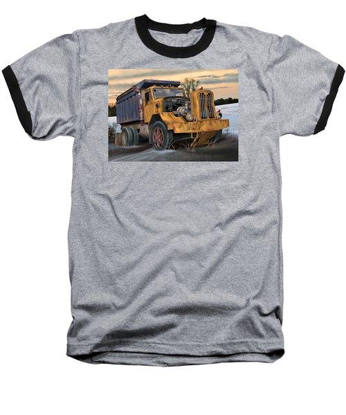 Autocar Dumptruck Baseball T-Shirt by Stuart Swartz
