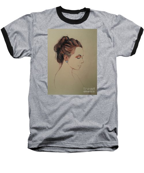 Autoportrait Maja Sokolowska Baseball T-Shirt by Maja Sokolowska
