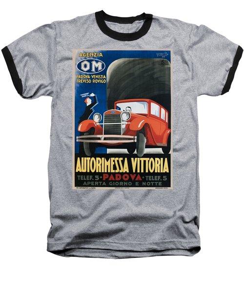Autorimessa Vittoria  Art Deco Poster Baseball T-Shirt