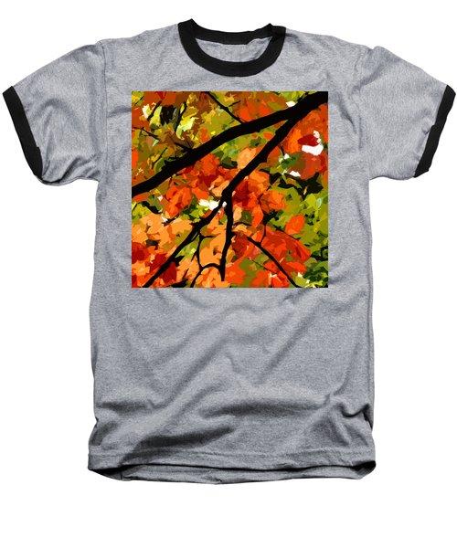 Autumn Ablaze Baseball T-Shirt