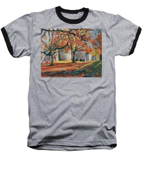 Autumn Along Maastricht City Wall Baseball T-Shirt by Nop Briex