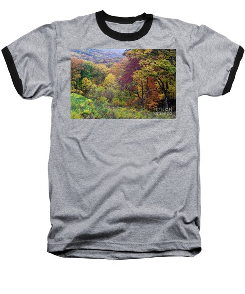 Baseball T-Shirt featuring the photograph Autumn Arrives In Brown County - D010020 by Daniel Dempster