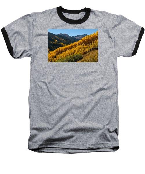 Autumn Aspen Near Castle Creek Baseball T-Shirt