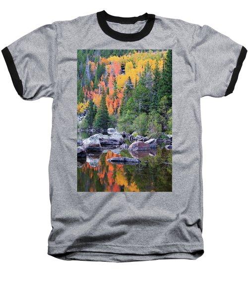 Baseball T-Shirt featuring the photograph Autumn At Bear Lake by David Chandler
