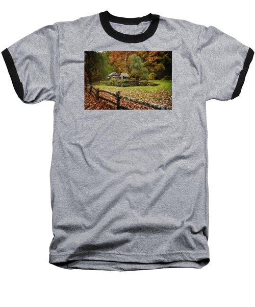 Autumn At Cuttalossa Farm V Baseball T-Shirt by Debra Fedchin