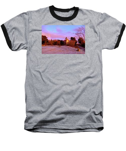 Autumn At East Point Lighthouse Baseball T-Shirt by Nancy Patterson