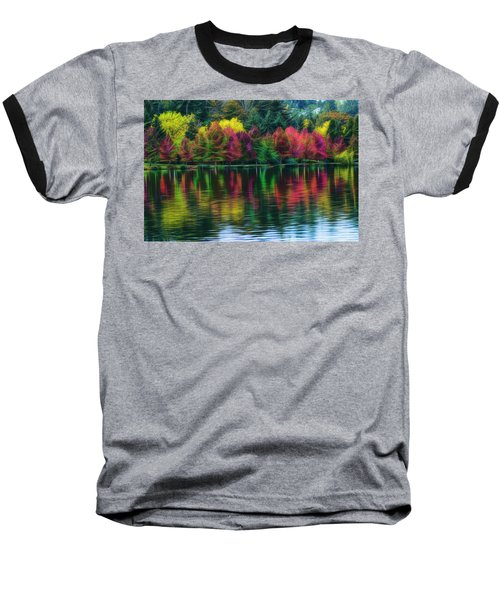 Autumn At Green Lake Seattle Baseball T-Shirt