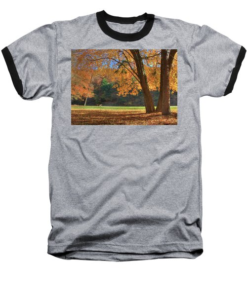 Baseball T-Shirt featuring the photograph Autumn At Lykens Glen by Lori Deiter