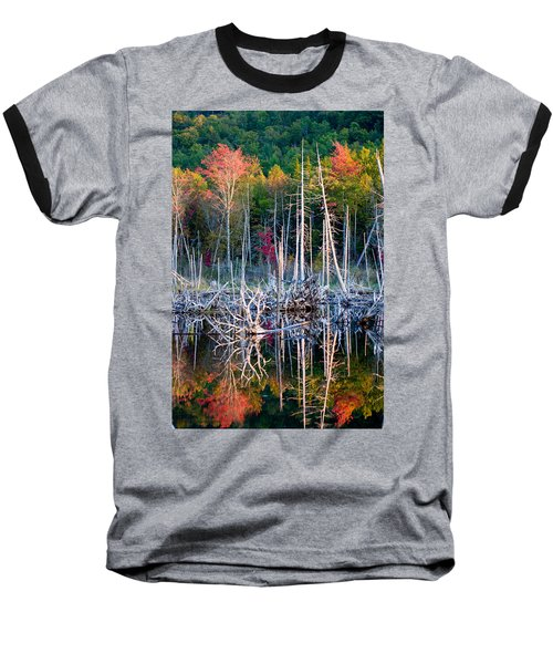 Autumn At Moosehead Bog Baseball T-Shirt by Brent L Ander