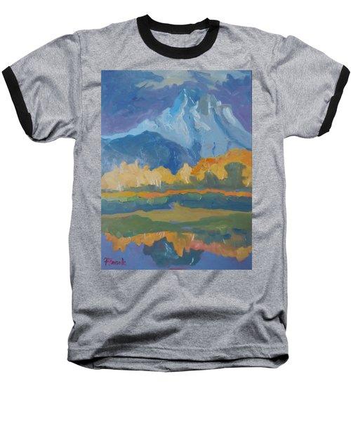 Autumn At Mt. Moran Baseball T-Shirt