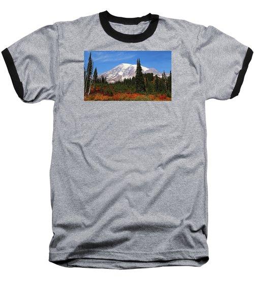 Baseball T-Shirt featuring the photograph Autumn At Paradise by Lynn Hopwood