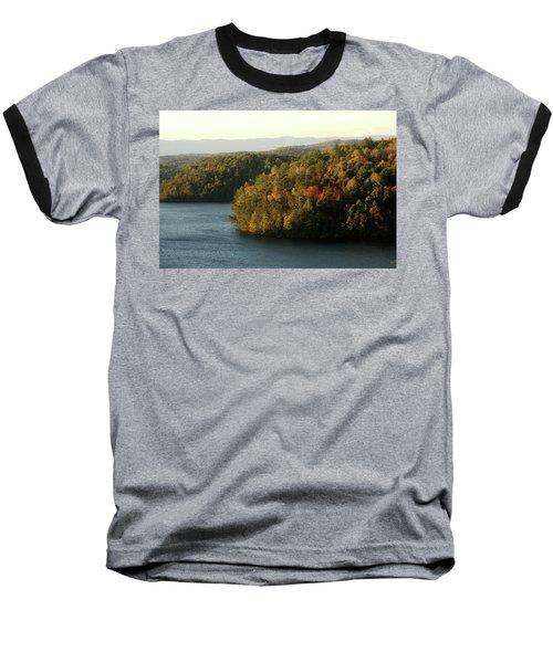 Baseball T-Shirt featuring the photograph Autumn At Philpott Lake, Virginia by Emanuel Tanjala