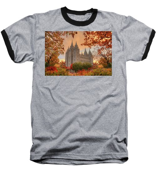 Autumn At Temple Square Baseball T-Shirt