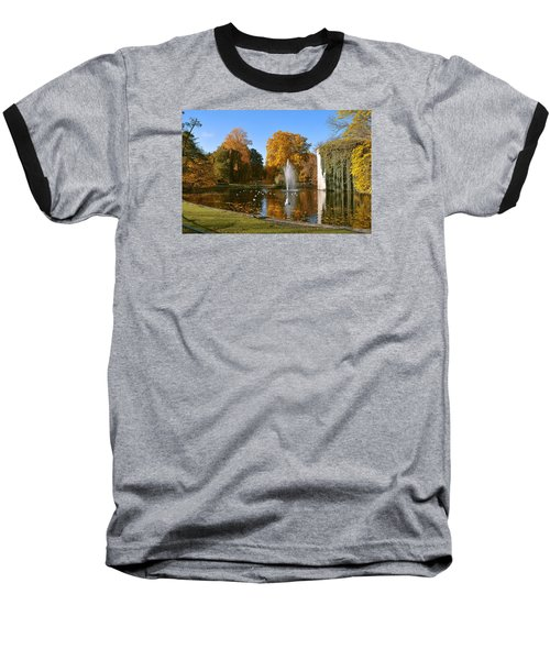 Baseball T-Shirt featuring the photograph Autumn At The City Park Pond Maastricht by Nop Briex
