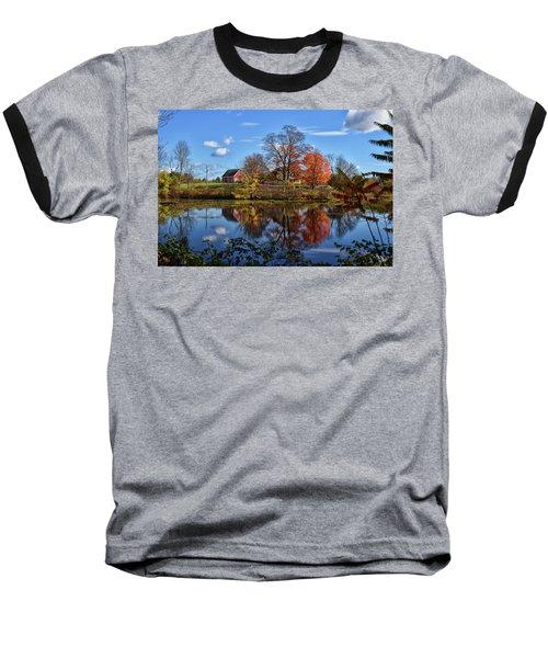 Autumn At The Farm Baseball T-Shirt by Tricia Marchlik