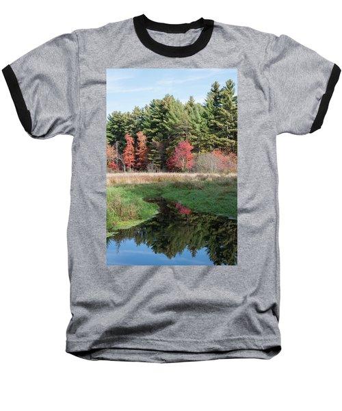 Autumn At The River Baseball T-Shirt