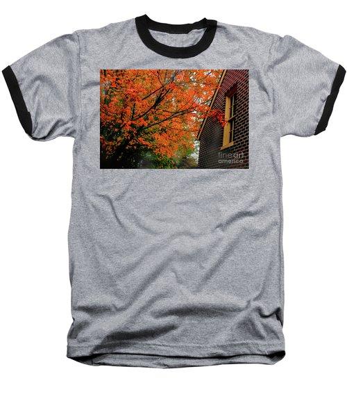 Autumn At The Window Baseball T-Shirt