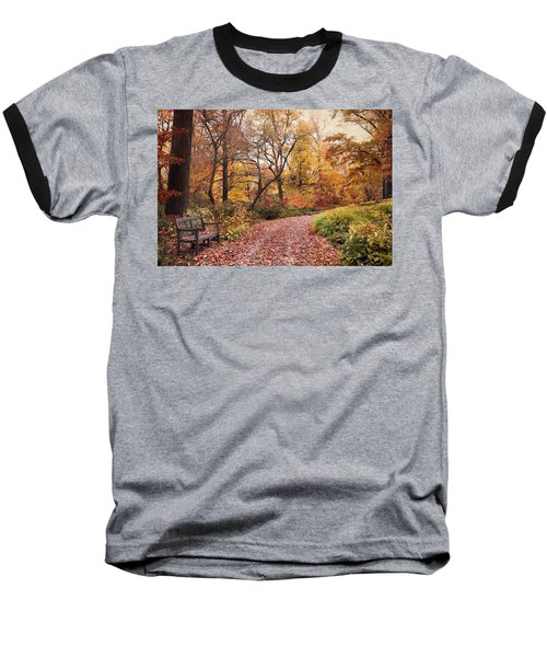 Autumn Azalea Garden Baseball T-Shirt