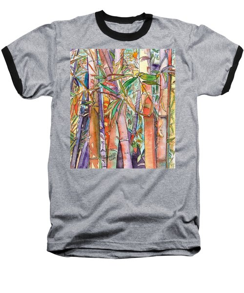 Baseball T-Shirt featuring the painting Autumn Bamboo by Marionette Taboniar