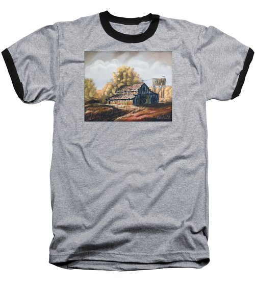 Baseball T-Shirt featuring the painting Autumn Barnyard by Sherril Porter