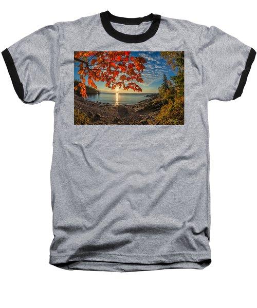 Autumn Bay Near Shovel Point Baseball T-Shirt