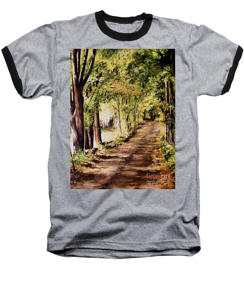 Autumn Begins In Underhill Baseball T-Shirt by Laurie Rohner