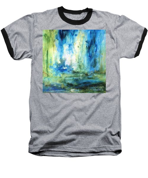 Spring Rain  Baseball T-Shirt by Laurie Rohner