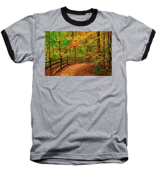 Autumn Bend - Allaire State Park Baseball T-Shirt