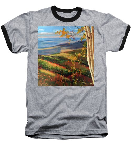 Autumn Birches Baseball T-Shirt