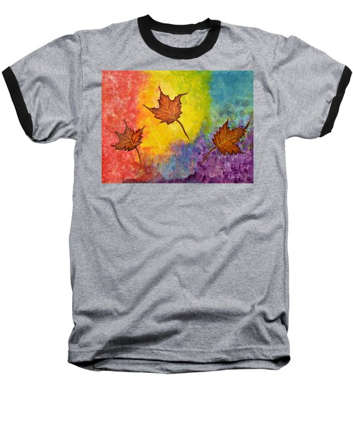 Autumn Bliss Colorful Abstract Painting Baseball T-Shirt